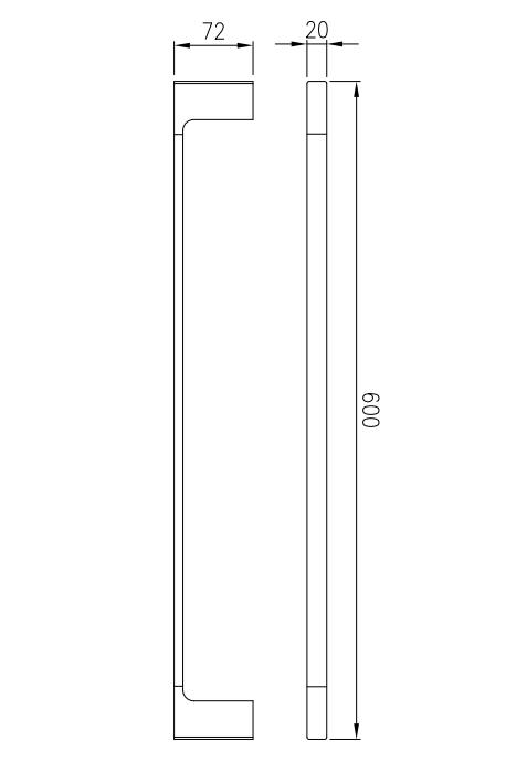 Toalheiro Porta Toalhas de Banho de Parede Preto Fosco Lux 60cm