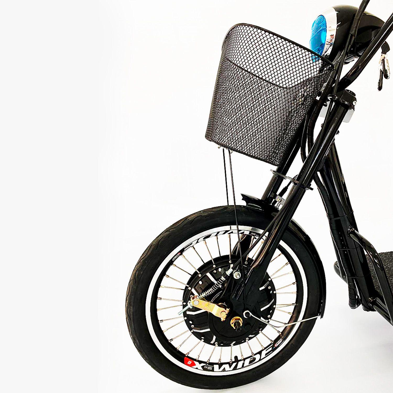 Triciclo Elétrico Duos Confort Com Ré Fox 800W 48v15ah Preto