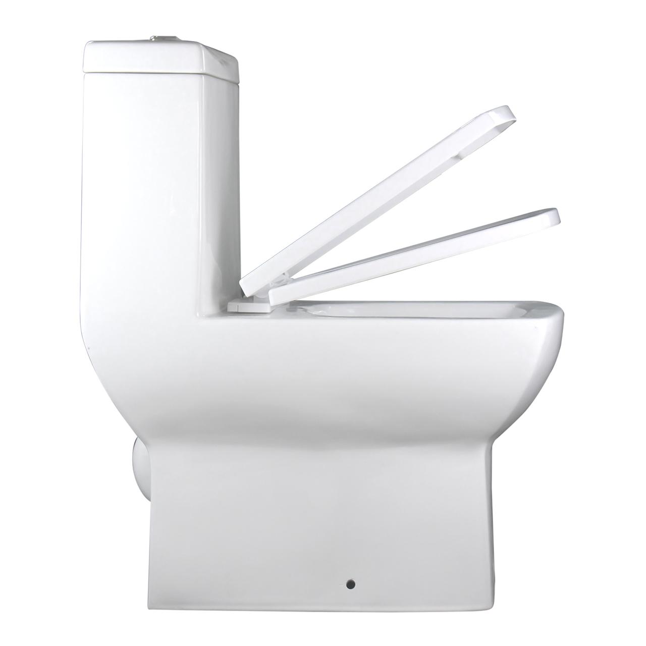 Vaso Sanitário Caixa Acoplada Quadrado Branco Prisma