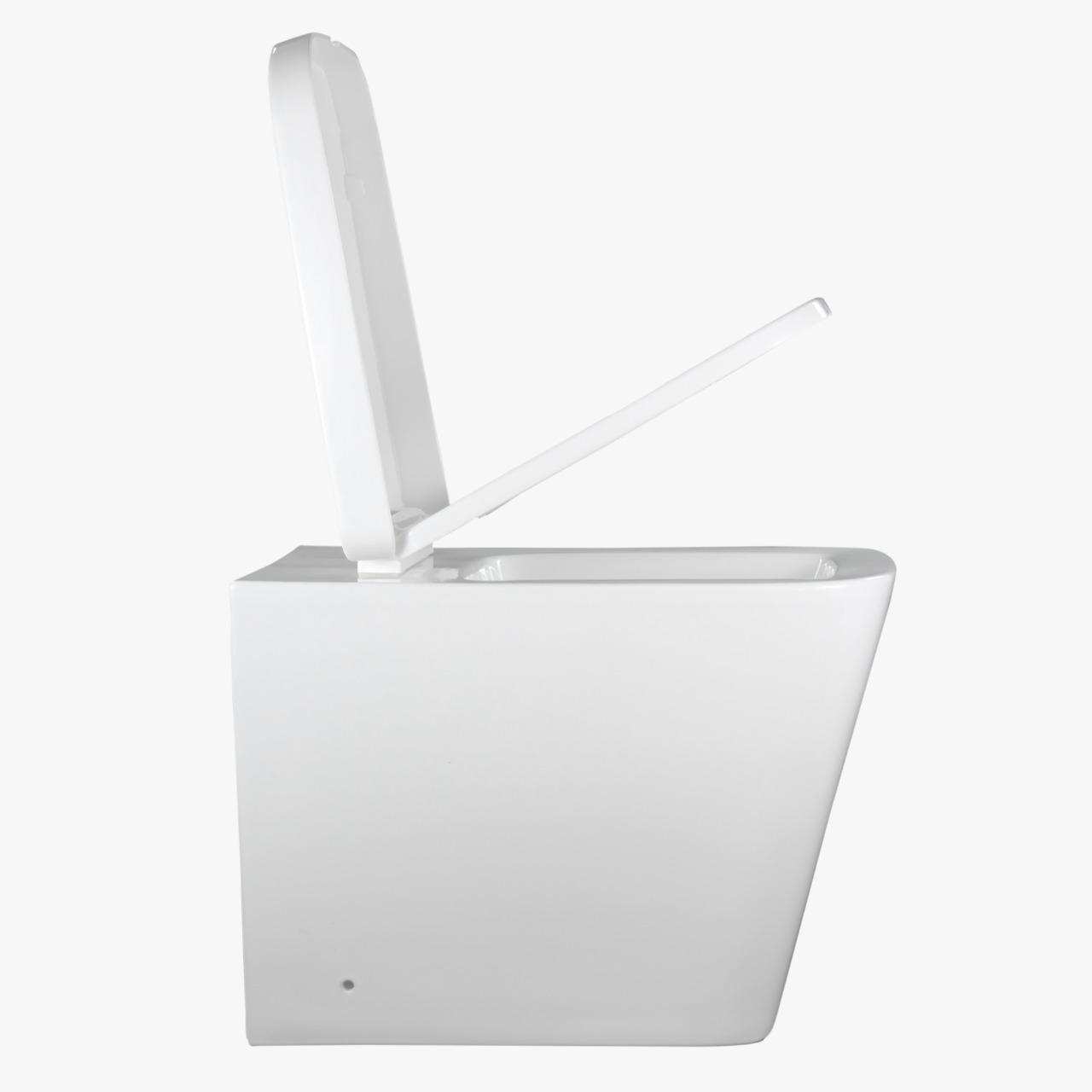 Vaso Sanitário Convencional Quadrado Branco Lux