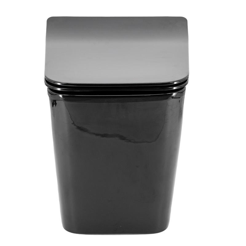 Vaso Sanitário Convencional Quadrado Lux Preto Brilho