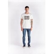 T-shirt  Fleurs Branco Melty