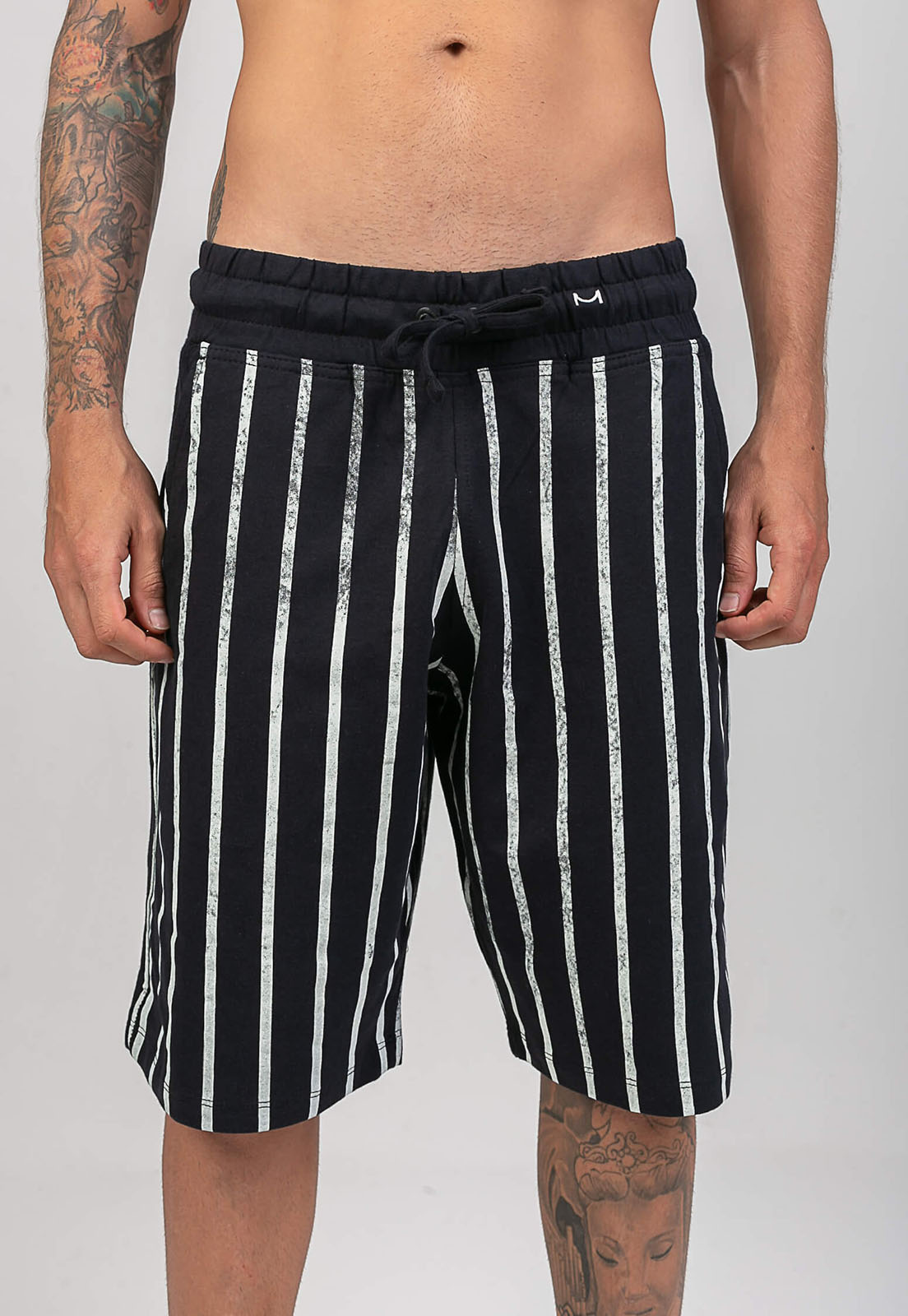Bermuda Black Striped Melty  - melty surf & Co.
