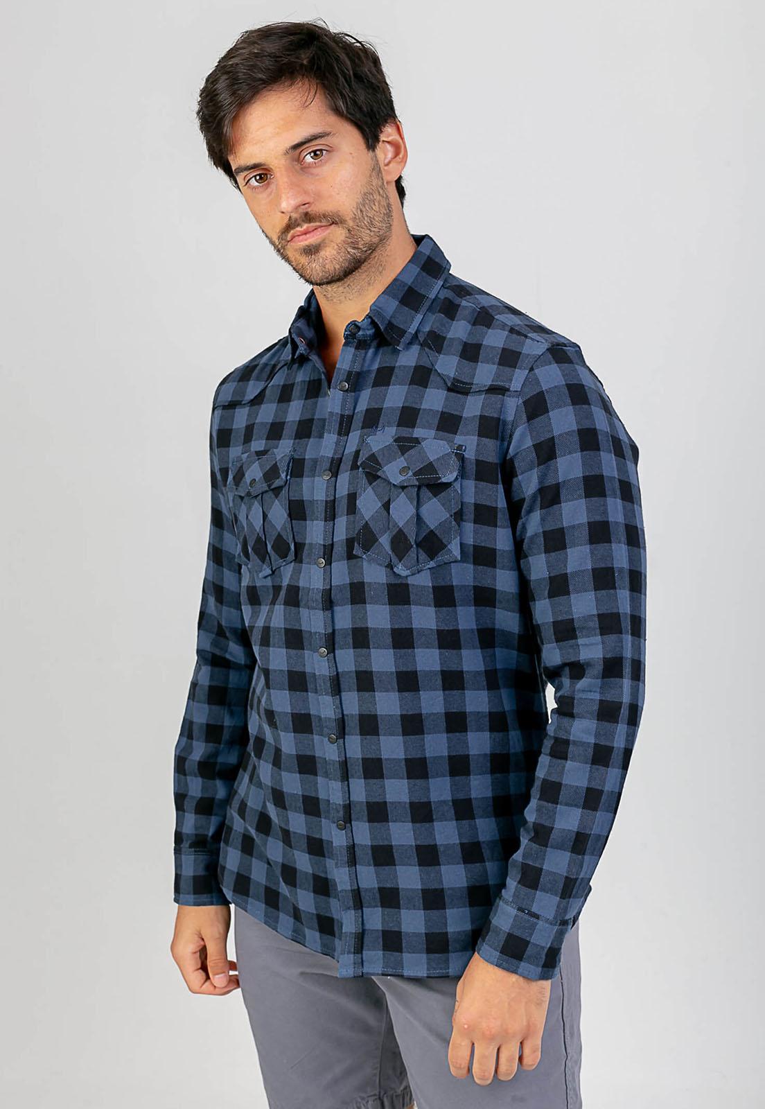 Camisa Lyla Xadrez Azul Melty