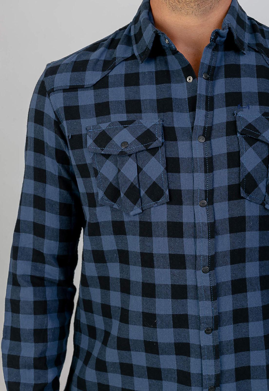 Camisa Lyla Xadrez Azul Melty  - melty surf & Co.