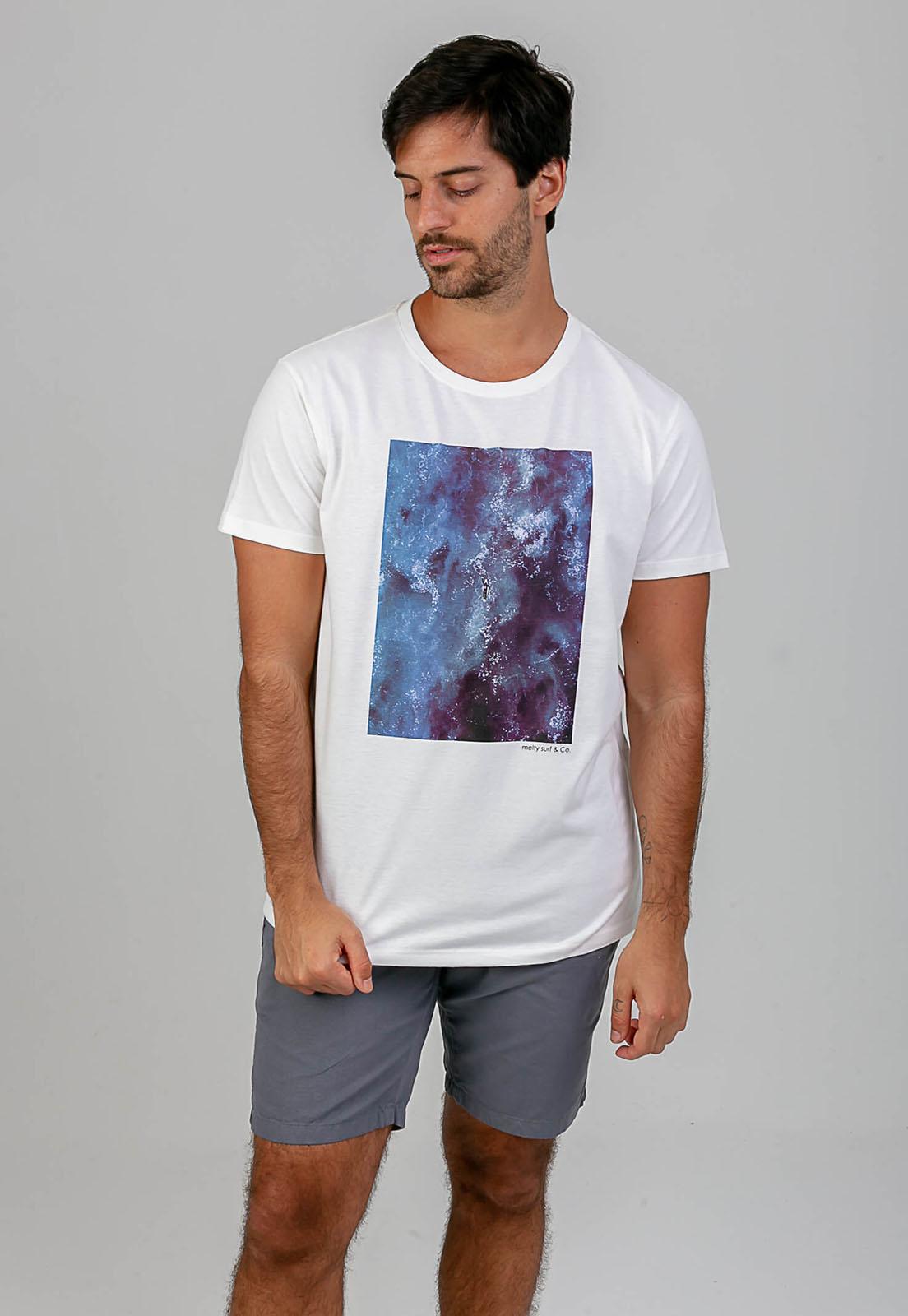 T-shirt Arrebentação branco melty  - melty surf & Co.