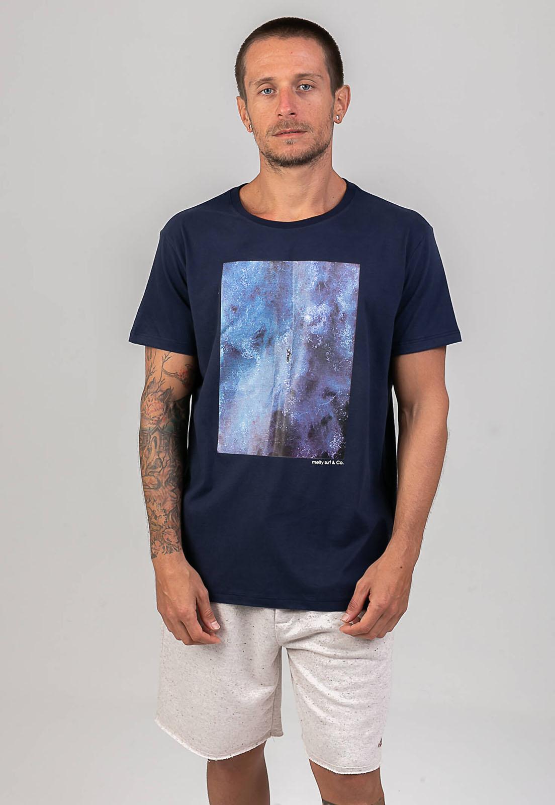 T-shirt Arrebentação marinho melty