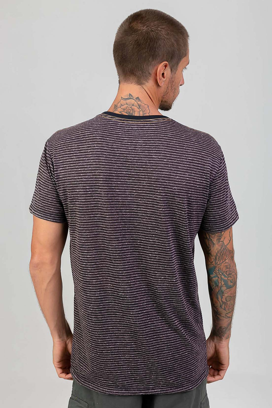 T-Shirt Be Simple Listrado melty  - melty surf & Co.
