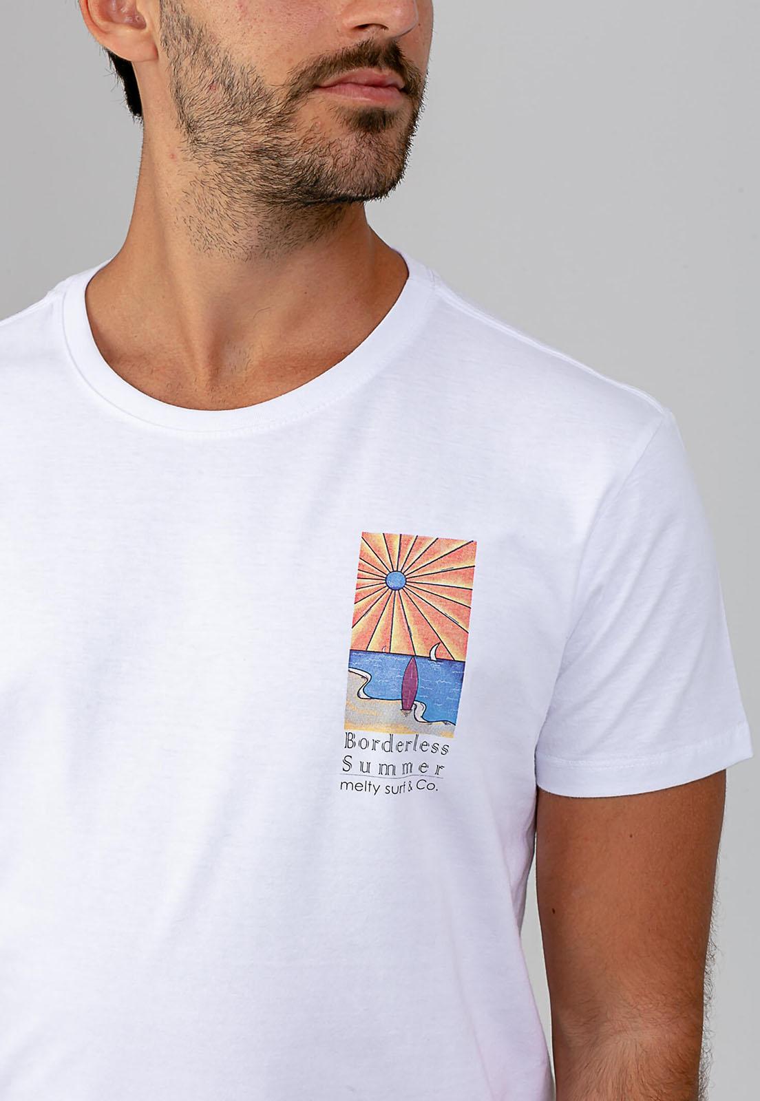 T-shirt Borderless Sun branco melty  - melty surf & Co.