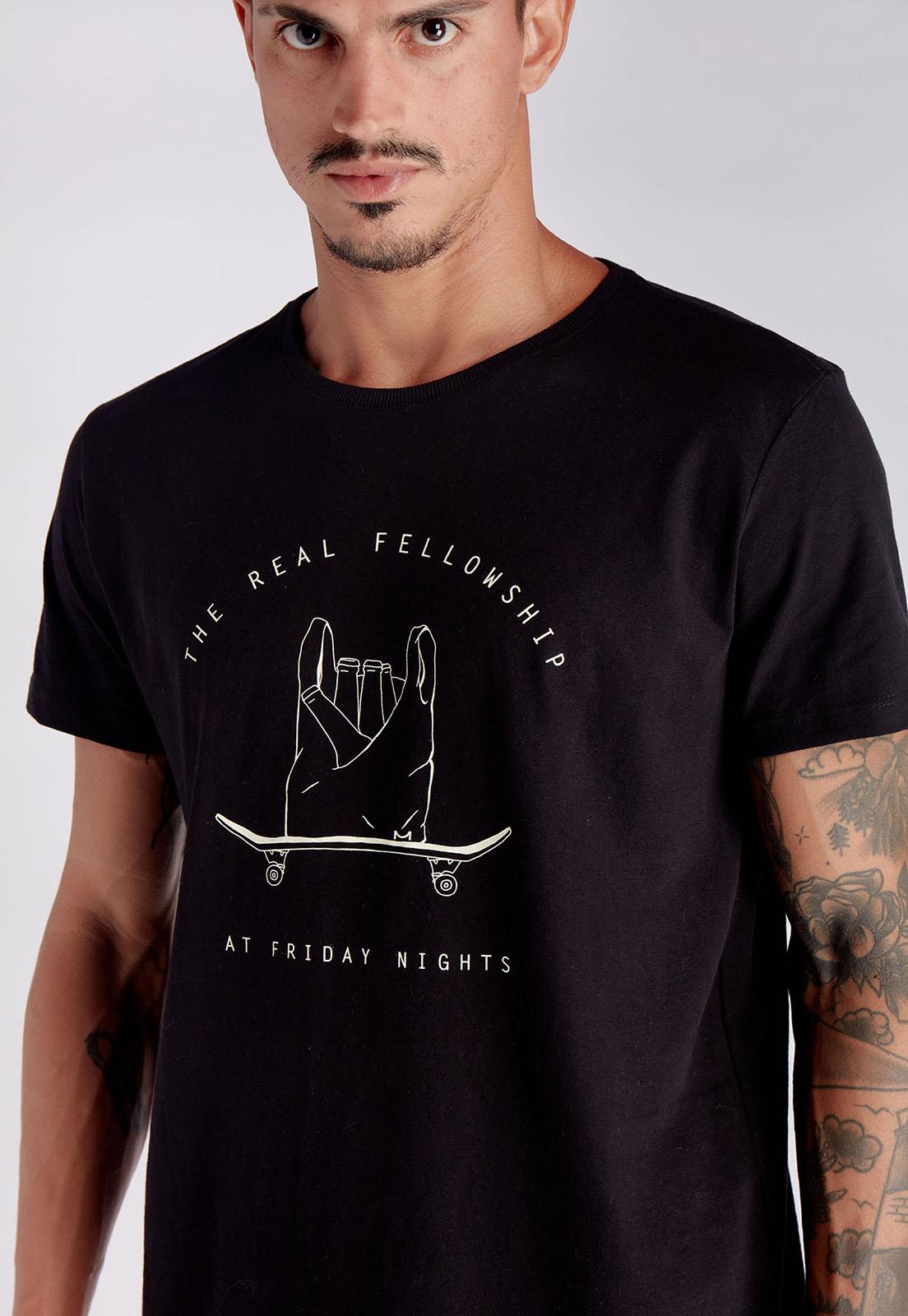 T-shirt Fellowship Preto Melty  - melty surf & Co.