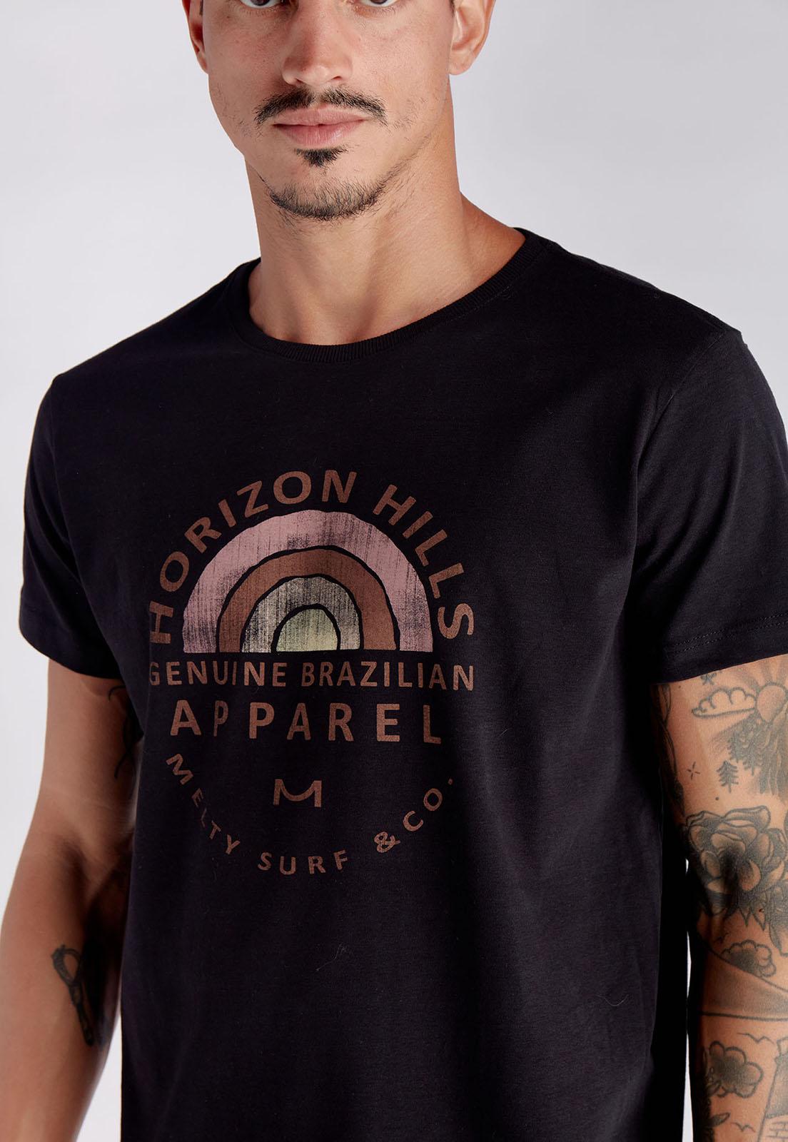 T-shirt Rainbow Hills Preto Melty