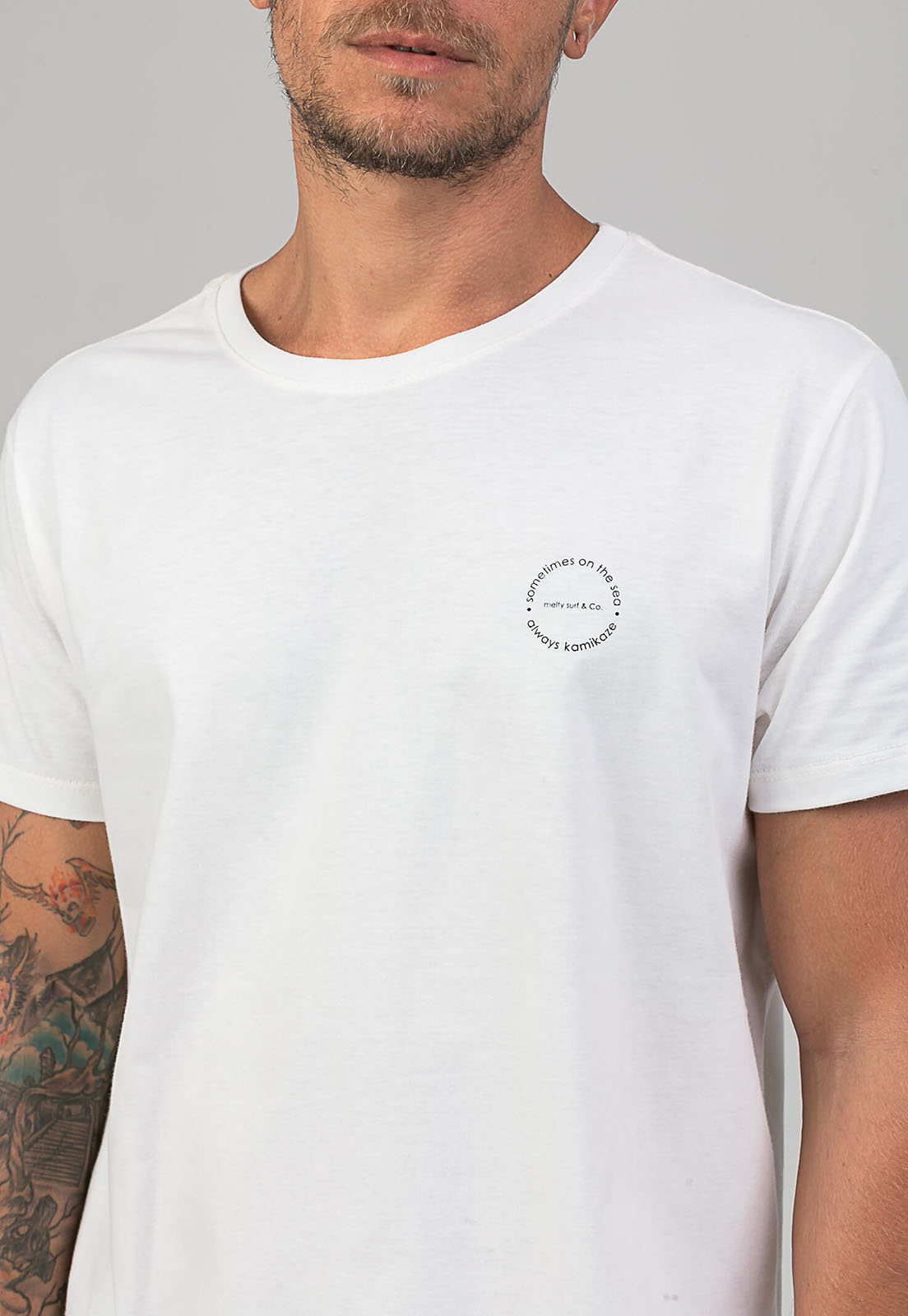 T-Shirt Kamicaze Rider off white melty  - melty surf & Co.