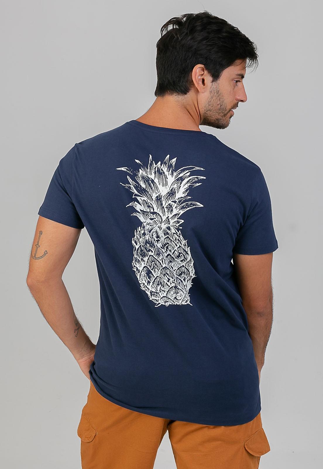 T-Shirt Pineapple marinho melty