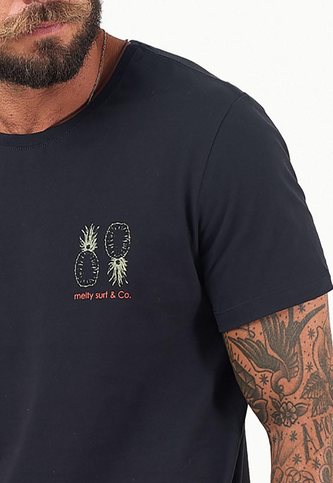 T-Shirt Pineapple preto melty