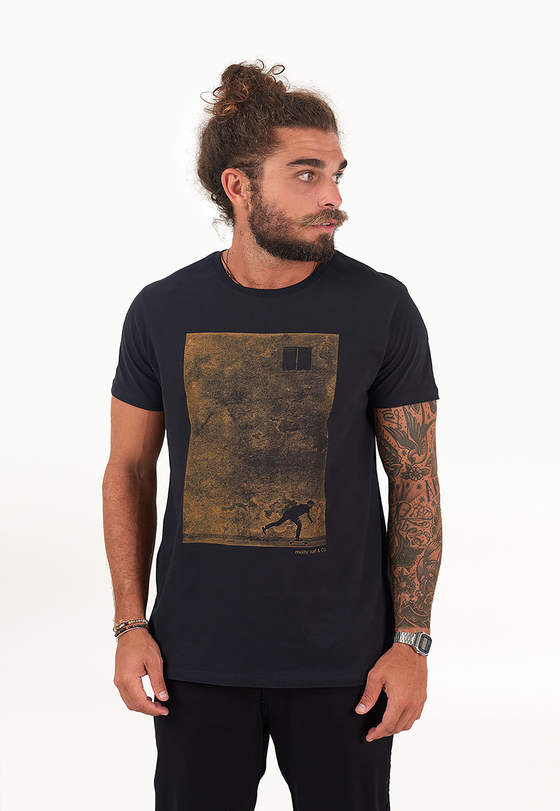 T-shirt Remada Preto melty  - melty surf & Co.