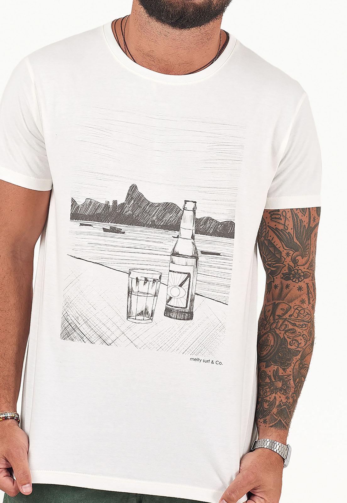 T-Shirt Rio lines Branco melty