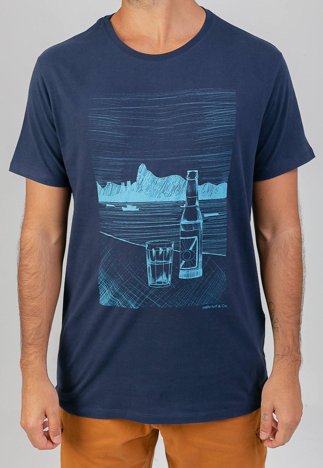 T-Shirt Rio lines Marinho melty