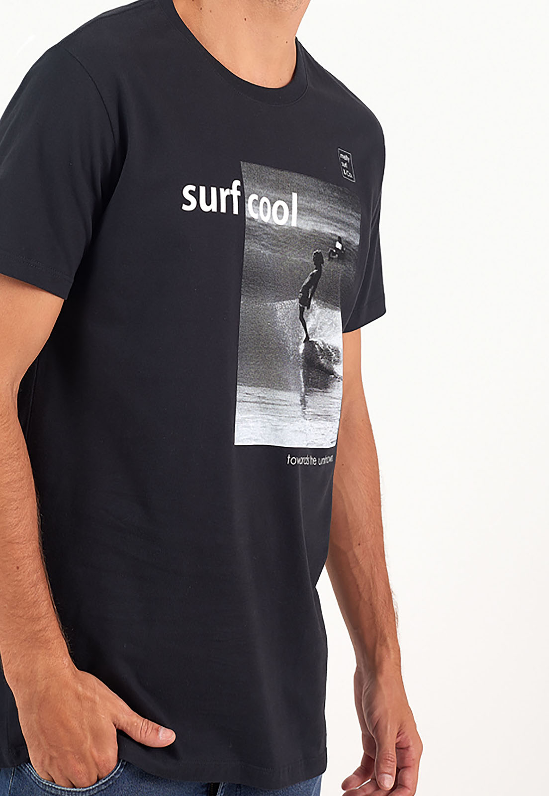 T-Shirt Surf Cool Preto melty  - melty surf & Co.