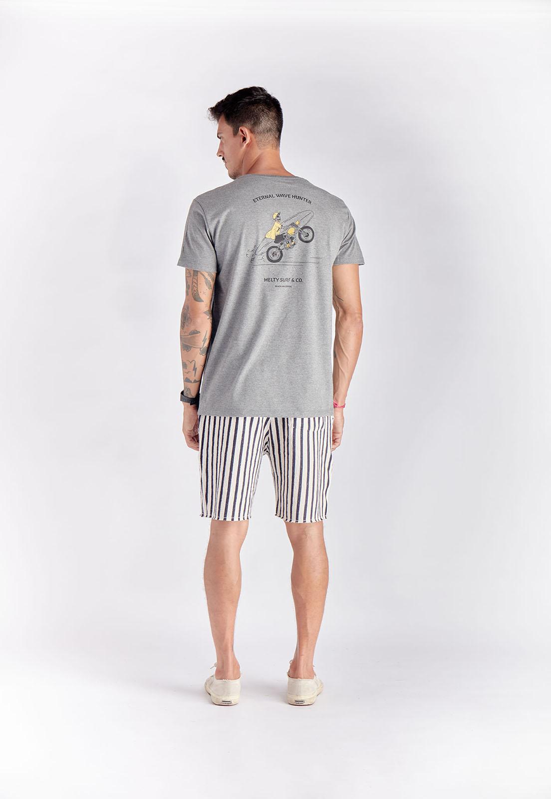 T-shirt Wave Hunter Mescla Melty  - melty surf & Co.