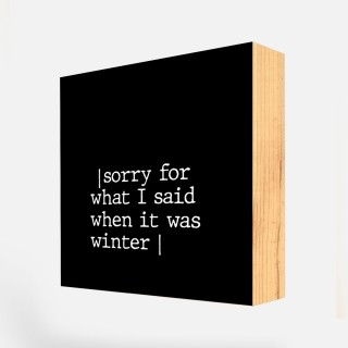 Bloco Quadro Decorativo Frases Sorry REF: BLC156