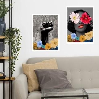 "Kit Dois Quadros Decorativos A3 ""Revolution"" REF: KQDR8-9"