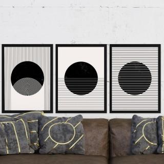 "Quadro Decorativo A3 ""Minimalist Illusion"" REF: QDR144+145+146"