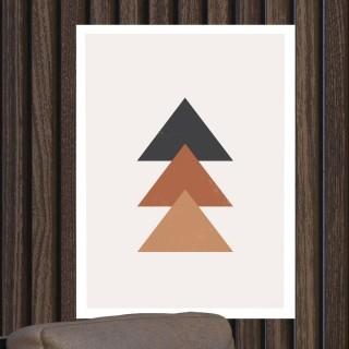 "Quadro Decorativo A3 ""Minimalist"" Triângulos REF: QDR148"