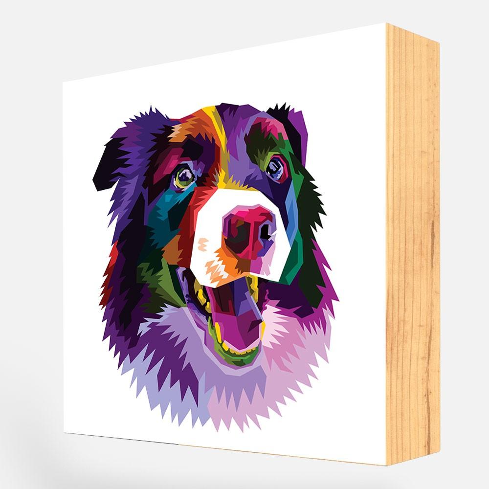 """Bloco Decorativo """"Bernese  Colorful"""" REF: BLC114"""