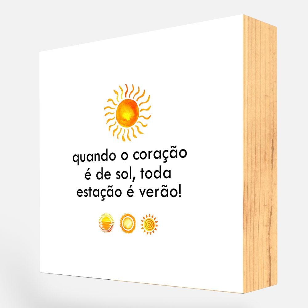 """Bloco Decorativo """"Coração"""" REF: BLC96"""