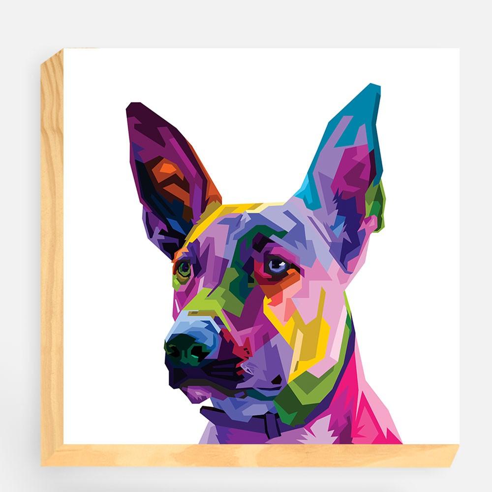 """Bloco Decorativo """"Dogue Alemão Colorful"""" REF: BLC113"""