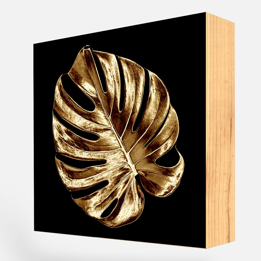 "Bloco Decorativo ""Golden Leaf"" REF: BLC128"