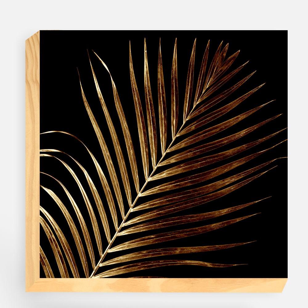 "Bloco Decorativo ""Golden Leaf"" REF: BLC130"