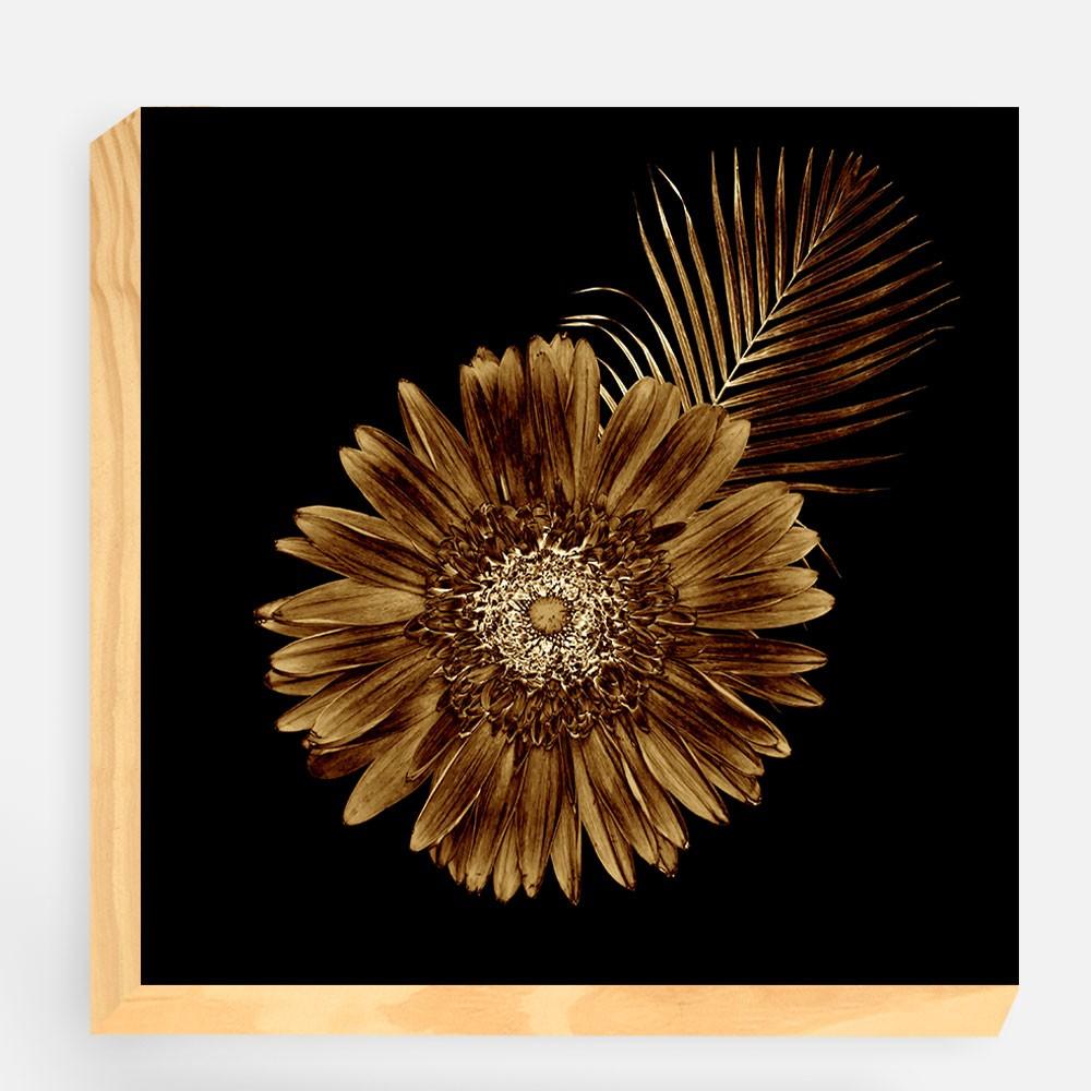 "Bloco Decorativo ""Golden Leaf"" REF: BLC131"