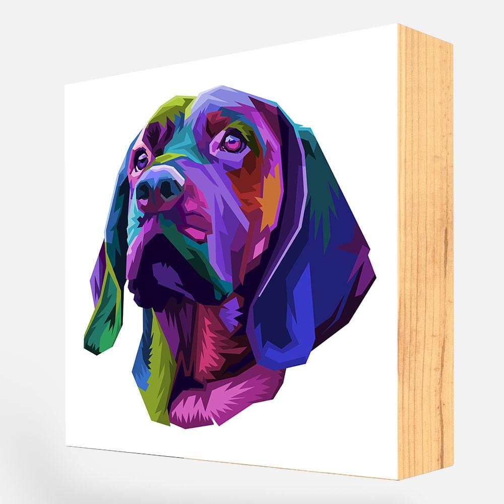 """Bloco Decorativo """"Beagle  Colorful"""" REF: BLC115"""