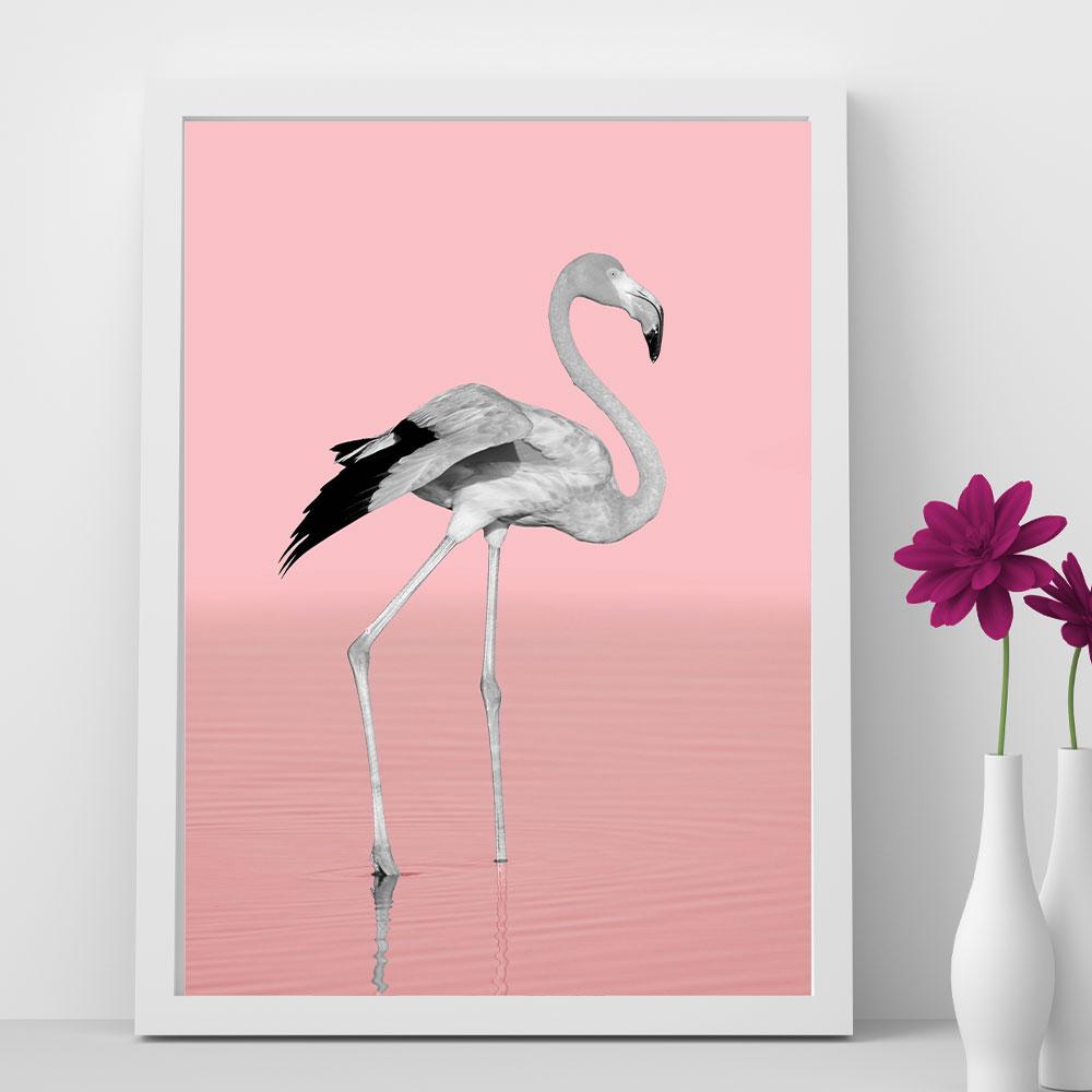 """Quadro Decorativo A3 """"Flamingo"""" REF: QDR34-A3"""