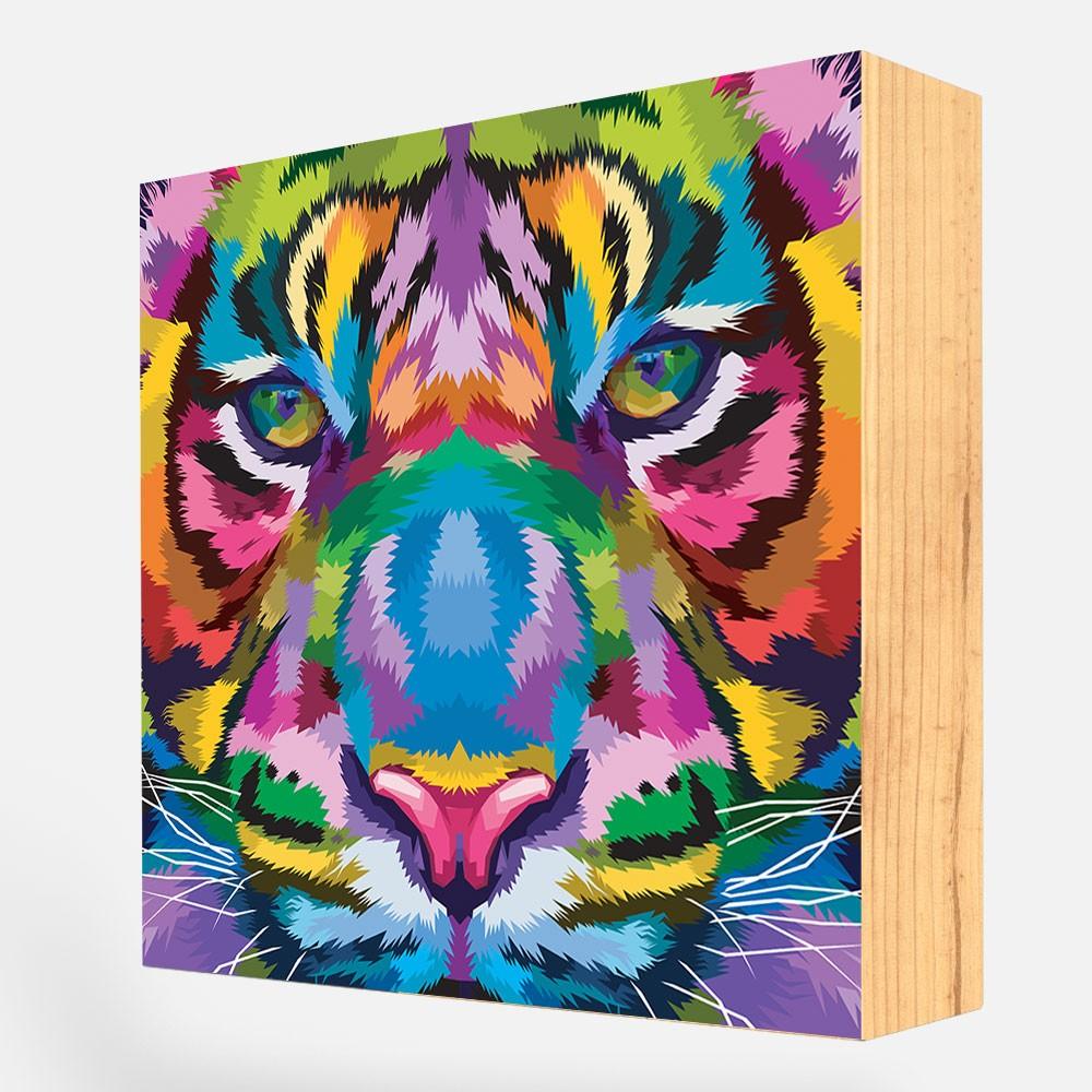 """Kit 2 Blocos Decorativos """"Tiger And Lion"""" REF: KBLC99+121"""