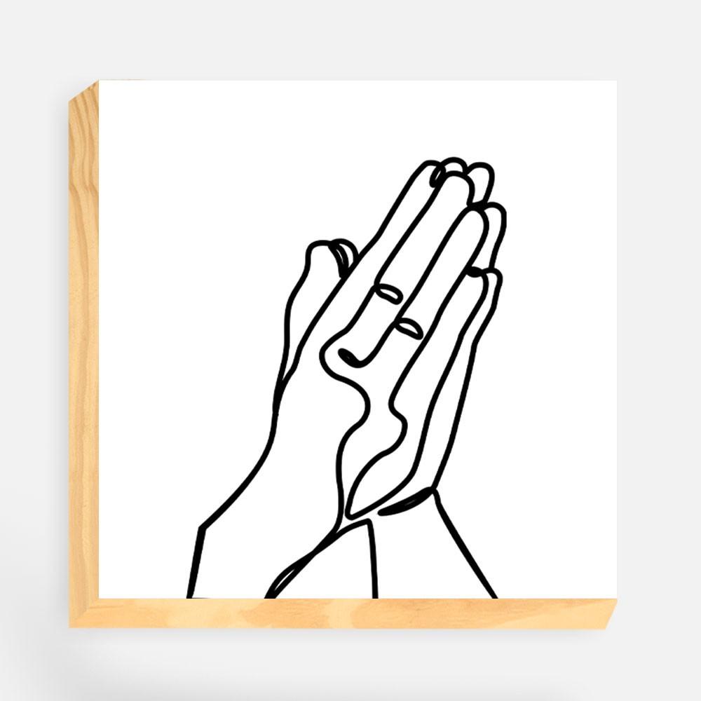 """Kit  de Blocos Decorativos """"Oração"""" REF: KBLC87+88"""