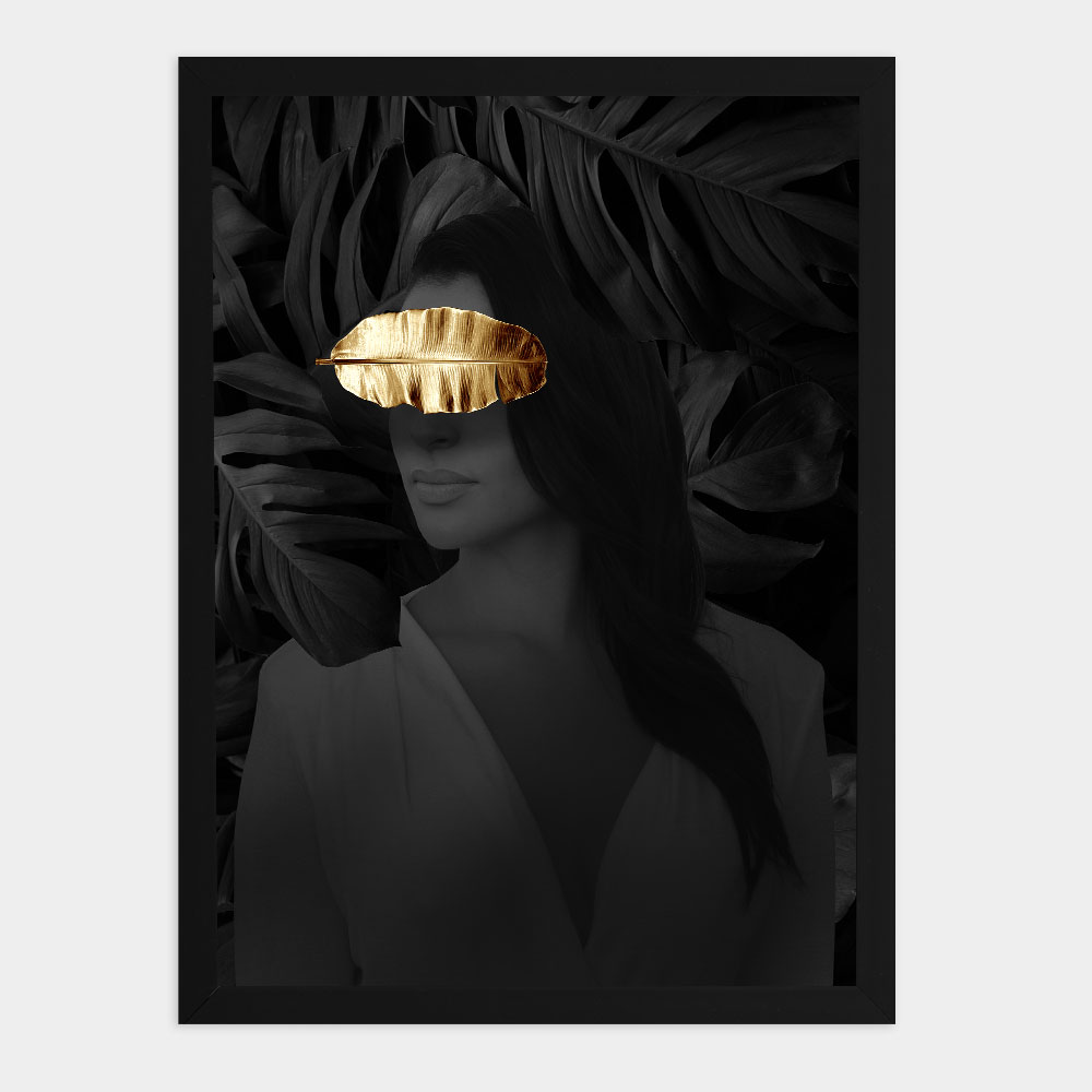 "Kit Quadros Decorativos A3 ""Golden Leaf"" REF: KQDR127+129+134"