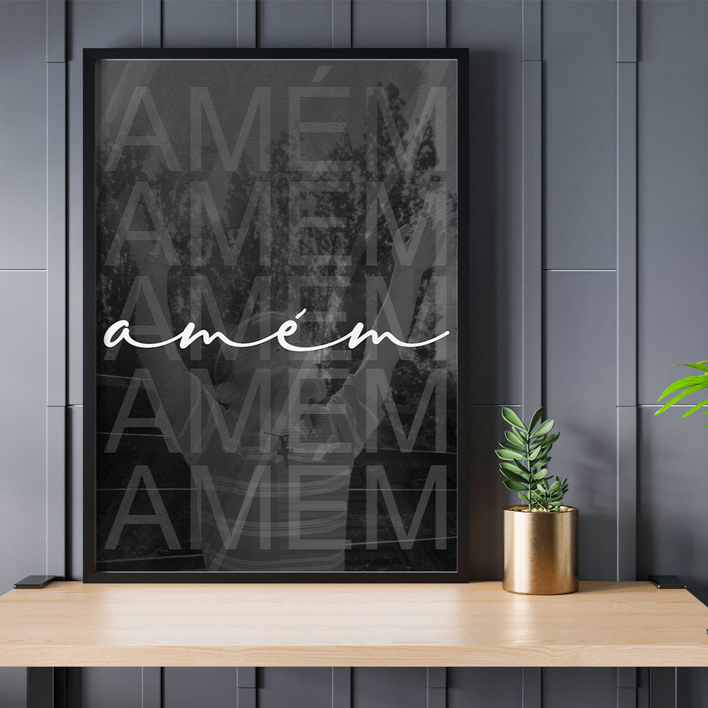 "Quadro Decorativo A3 ""Amém"" REF: QDR5-A3"