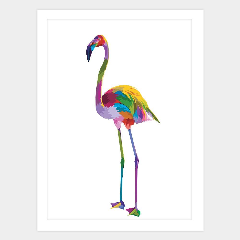 """Quadro Decorativo A3 Flamingo """"Colorful"""" REF: QDR120"""