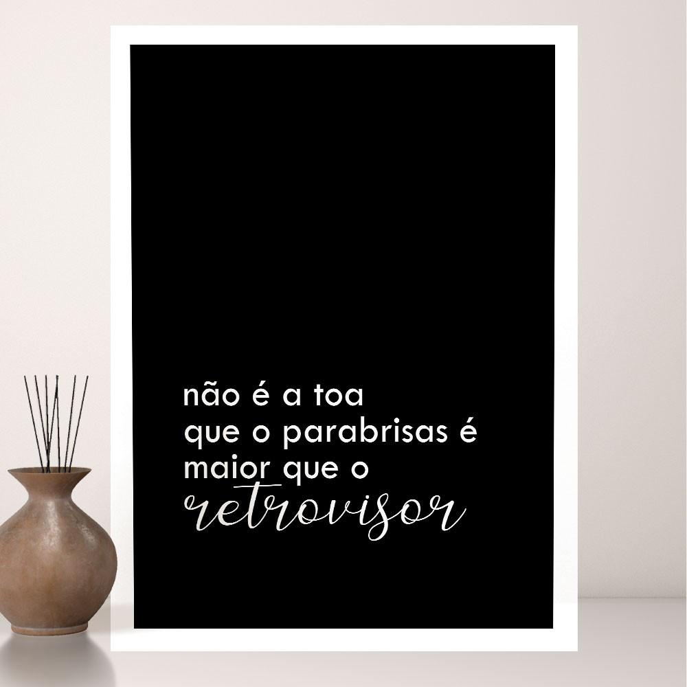 Quadro Decorativo A3 Frases Motivacional REF: QDR171