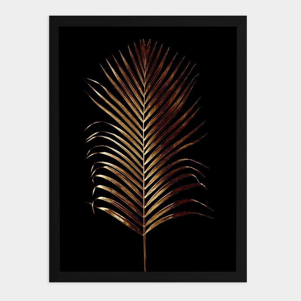 "Quadro Decorativo A3 ""Golden Leaf"" REF: QDR129"