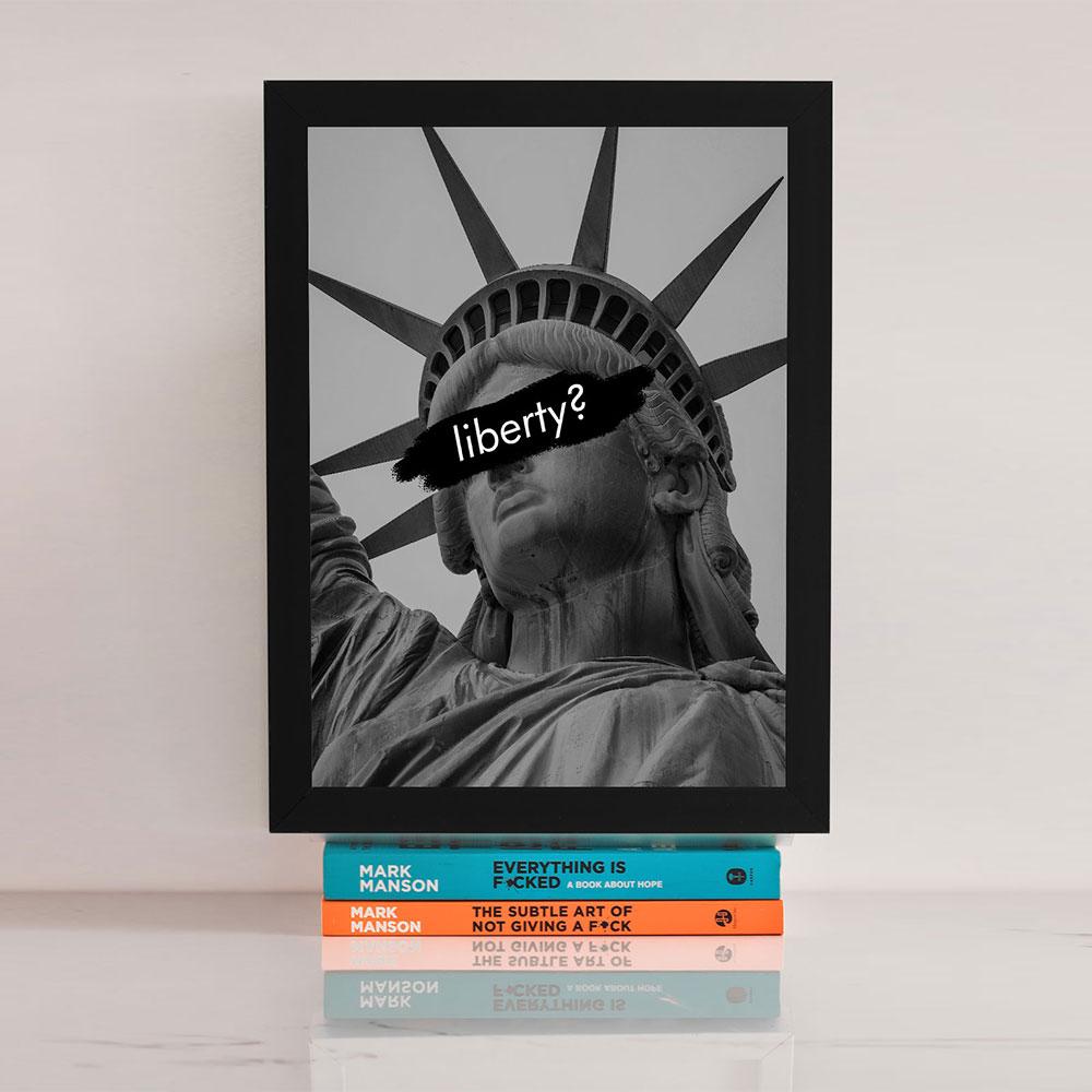 """Quadro Decorativo A3 """"Liberty"""" REF: QDR12-A3"""