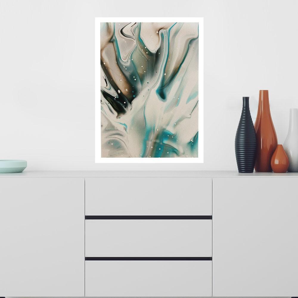 "Quadro Decorativo A3 ""Marble"" REF: QDR54-A3"