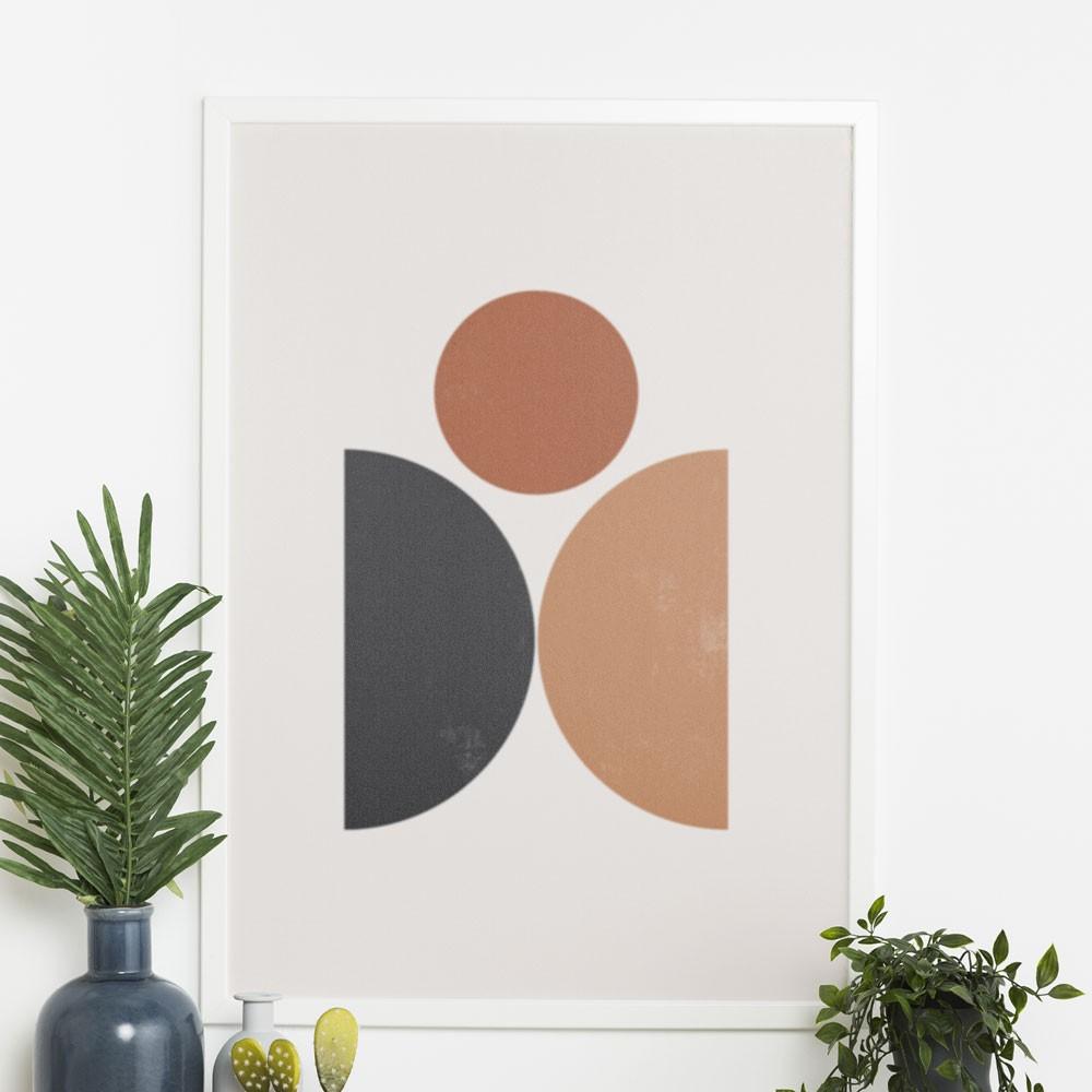 "Quadro Decorativo A3 ""Minimalist"" Círculos REF: QDR149"