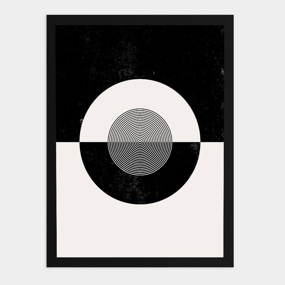 "Quadro Decorativo A3 ""Minimalist"" Círculo REF: QDR135"