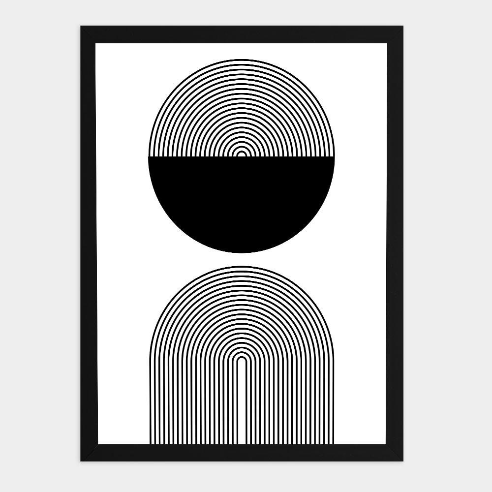 """Quadro Decorativo A3 """"Minimalist Black and white"""" REF: QDR143"""