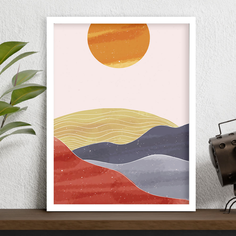 "Quadro Decorativo A3 ""Sunset"" REF: QDR76"