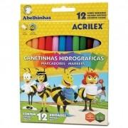 CANETA HIDROGRÁFICA 12 CORES ABELHINHAS