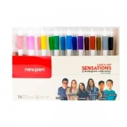 KIT 16 CANETAS CLIC SENSATIONS 0.5 STUDYGRAM